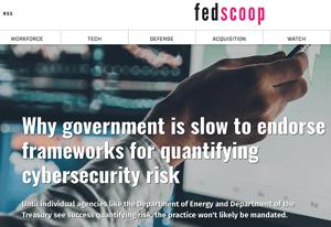 FedScoop Headline on Cyber Risk Quantification