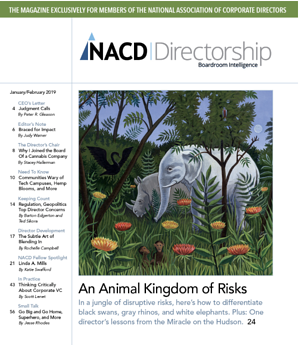 James Lam in NACD Magazine on Disruptive Risks copy