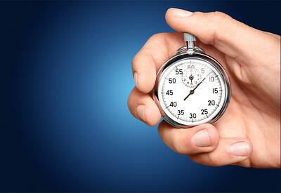 Stopwatch Timer - No Time to Talk Cyber Risk Senior Executives Say
