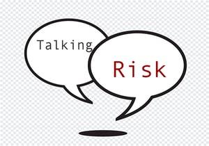 Talking Risk Red Black Cartoon Bubbles