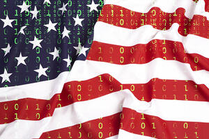 US Flag Digital Cybersecurity